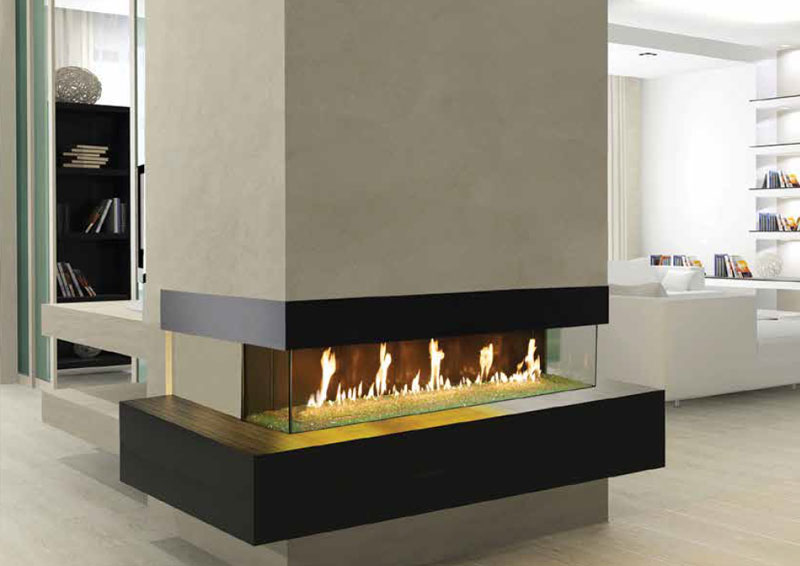 davinci custom fireplaces gas fires - Fake Fireplaces