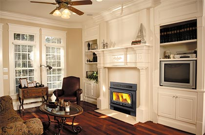 Nectre wood fireplace