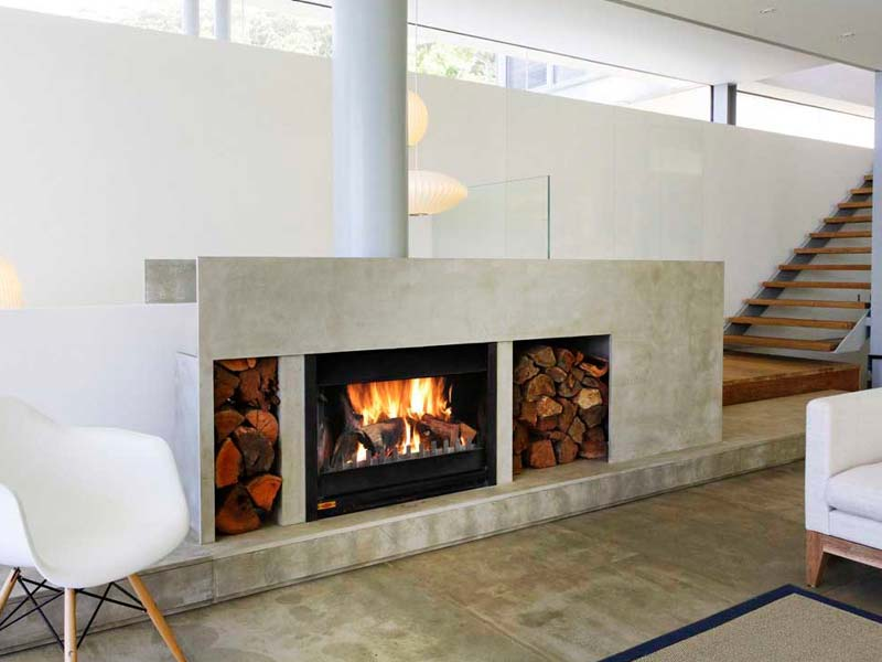 Two Sided Wood Burning Fireplace Insert